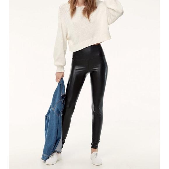 aa871317ffb6d Wilfred Pants | Aritzia Free Daria Faux Leather Pant Small | Poshmark